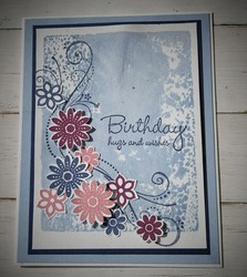 Watercolor washed birthday