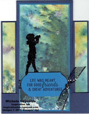 Silhouette scenes stargazing step card watermark
