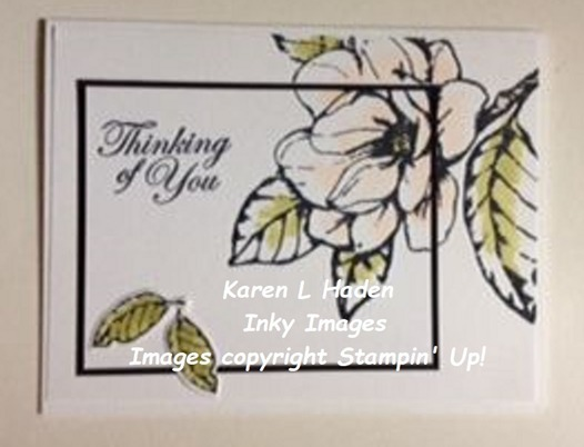 Double stamping magnolia card