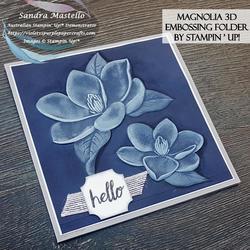 Magnolia 3d embossing folder 00