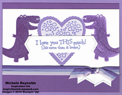 Dino days purple dinosaur love watermark