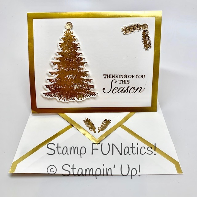 Winter woods chirstmas card with in the wood dies