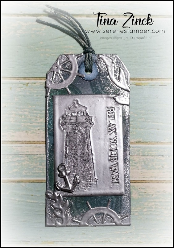 Come sail away suite tina zinck serene stamper faux metal tags