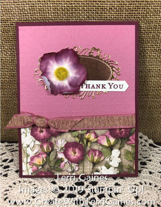 Pressed petals card   1