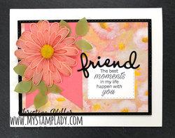 Daisy lane friend vellum flower