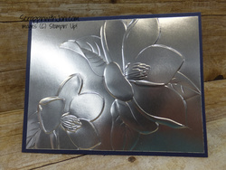 Magnolia lane in silver foil