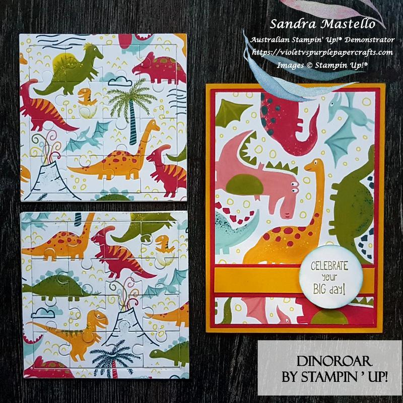 Dinoroar card and puzzle 00
