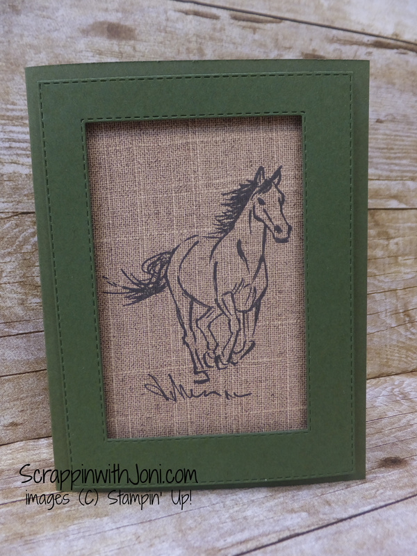 Let it ride on burlap