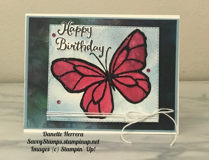 Water coloring with a beautiful day stamp set