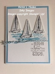 Three sailboats card