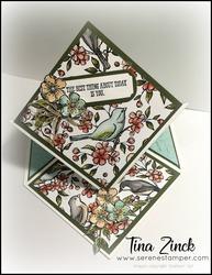 Free as a bird diamond easel card tina zinck