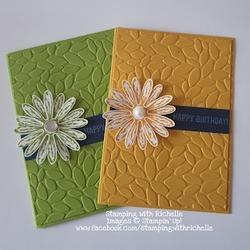 August daisy card