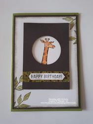 August giraffe card