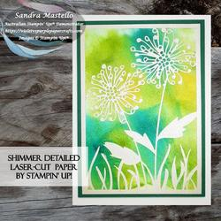 Shimmer detailed laser cut paper card 02