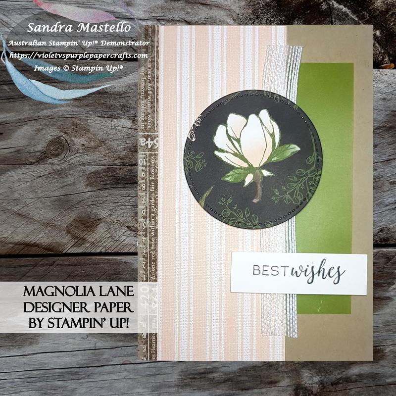 Magnolia lane designer paper card 00