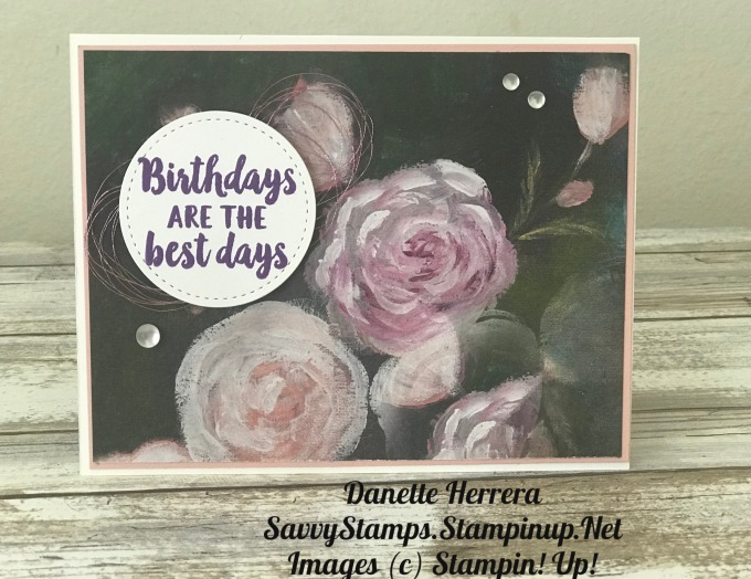 A quick and simple birthday card that is stunning