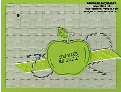 Harvest hellos granny apple smile watermark