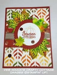 Fall card   pigment sprinkles   9 3 19