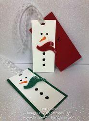 Let it snow gift tag card   10
