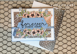 Bloom   grow wedding card