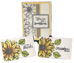 8 21 19 sunflowers 3 for 1 cards