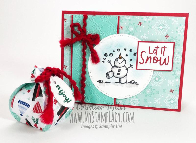 Snowman card and curvy keepsake box