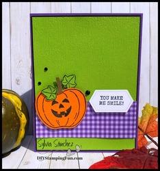 Z pumpkin masking card