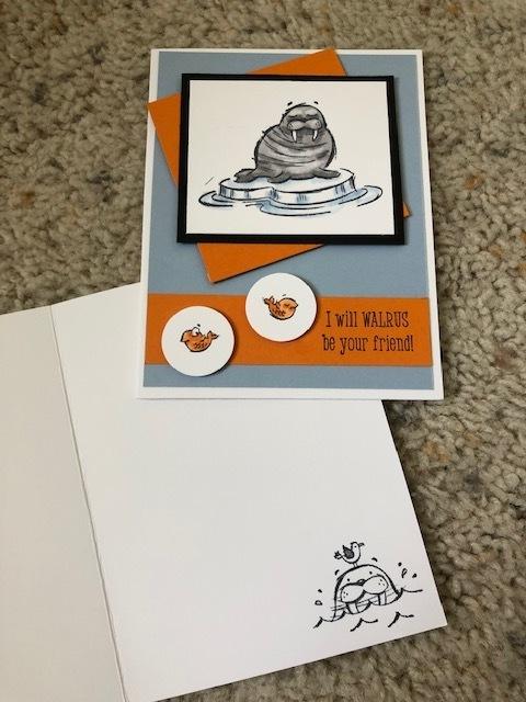 September 2019 stampin blends card 2
