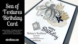 Sea of textures birthday card