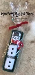 Snowman nugget treat