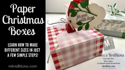 Paper christmas boxes