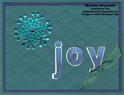 Lined alphabet snowflake joy watermark