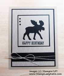 Merry moose as a  masculine birthday