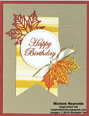 Colorful seasons birthday leaves banner watermark