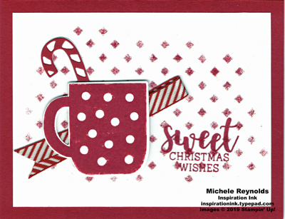 Cup of christmas cherry sweet wishes watermark