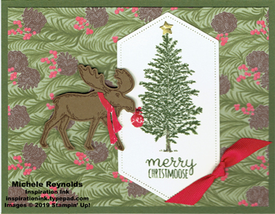 Merry moose bulb hanging moose watermark