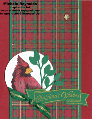 Toile christmas cardinal plaid watermark