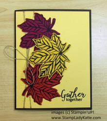 Gathered leaves fall leaf trio2