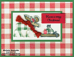 Merry moose cozy flannel animals watermark