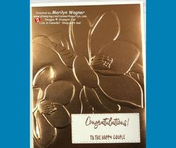 Congratulations embossed background