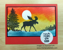 Merry moose sponged sunset