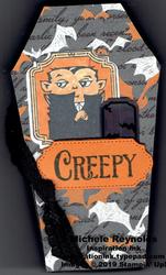Spooktacular bash creepy dracula coffin watermark