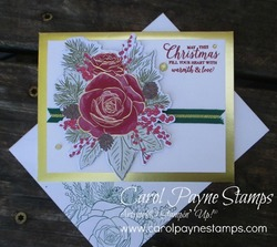 Stampin up christmastime is here gold foil carolpaynestamps1