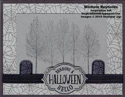 Winter woods spooky halloween woods watermark