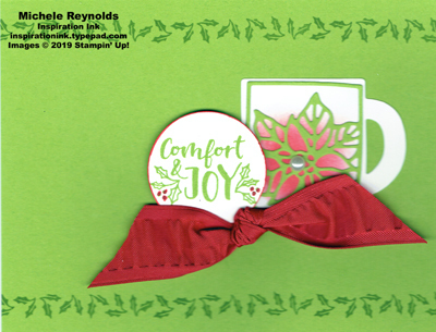 Cup of christmas poinsettia cup watermark