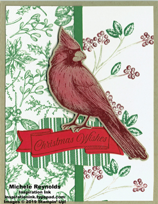 Toile christmas victorian cardinal wishes watermark