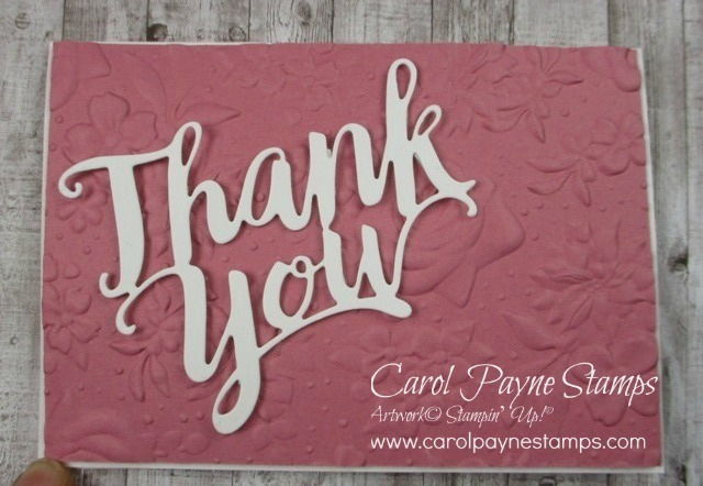 Stampin up thank you die carolpaynestamps1