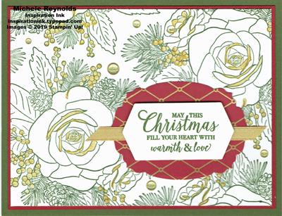 Christmas rose gold gilded rose watermark