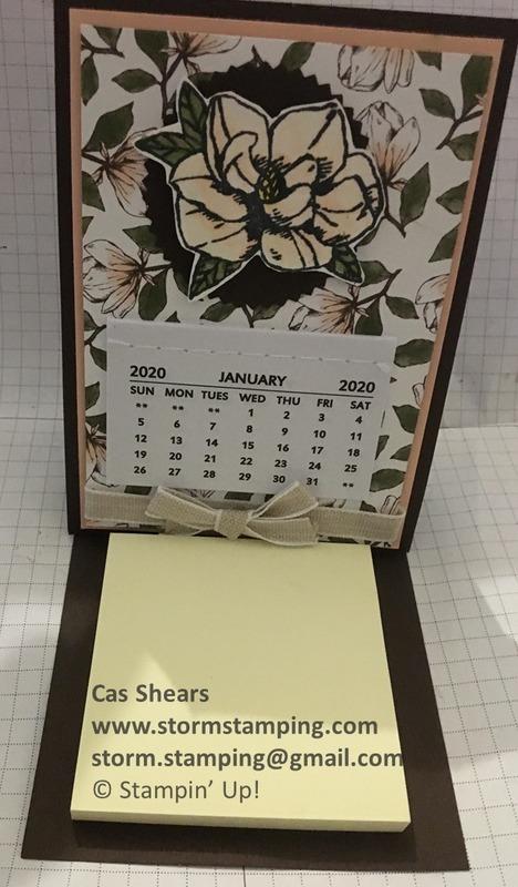 Magnolia calendar open