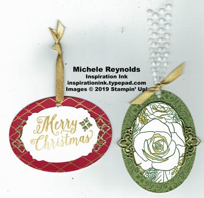 Christmas rose gift tags watermark
